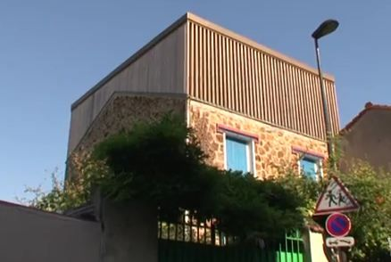 Maison bois  extension du0027une maison de ville de 45 m2