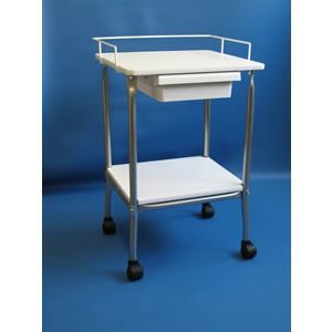 Phlebotomy Side Stand With Drawer: Universal Side Stand Is Perfect For  Staging Lab Supplies Next To Blood Draw Chairs