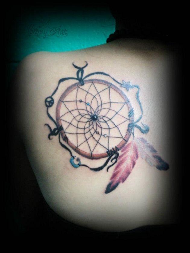 Significado: http://bodyart.batanga.com/4218/el-original-tatuaje-de-atrapasuenos-enviado-por-abi