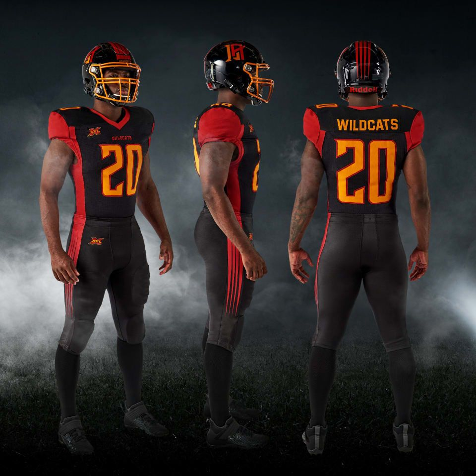 Xfl 2020 Los Angeles Wildcats Home Uniforms Cool Football Helmets Football Helmet Design Tcu Football