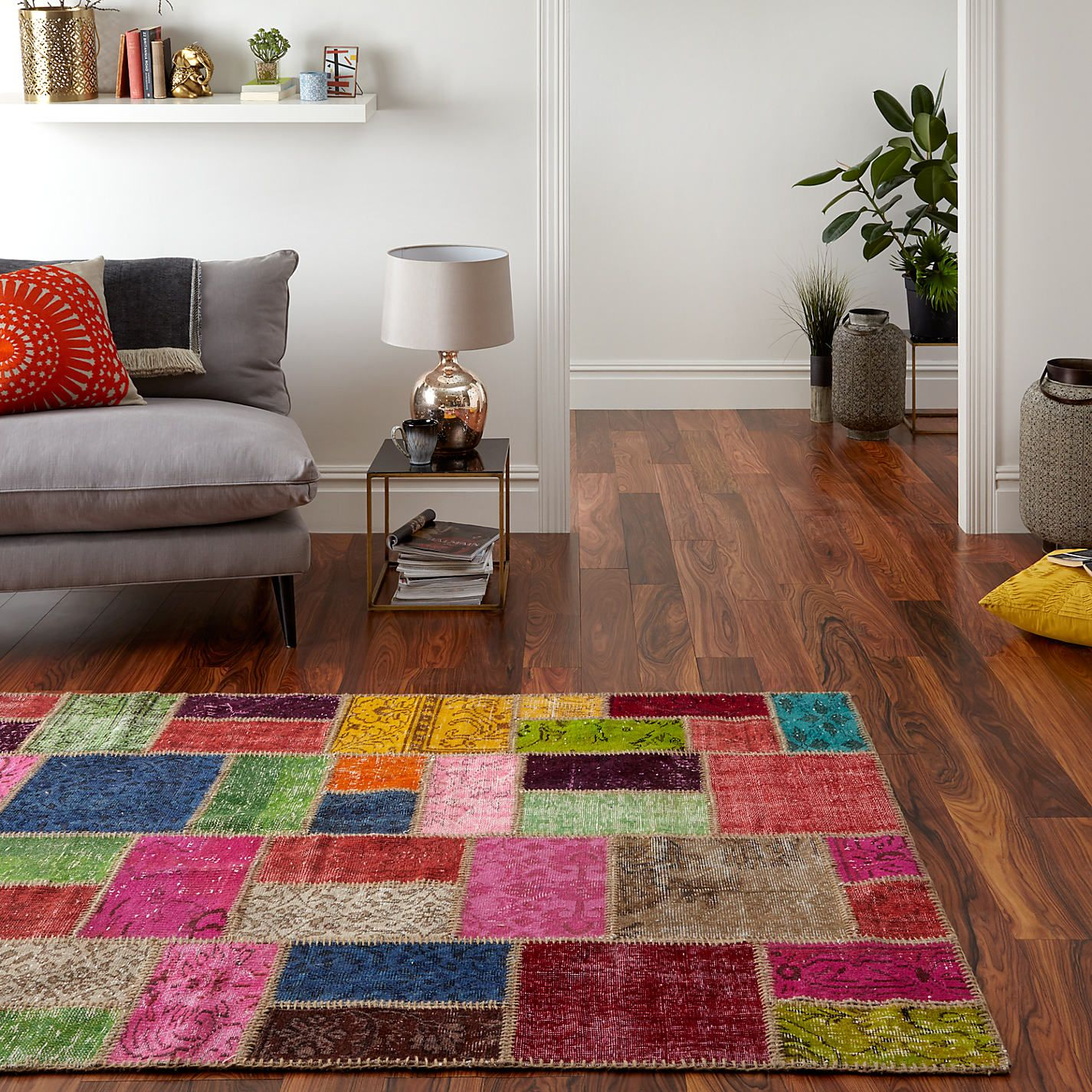 John Lewis Fusion Patchwork Rug Multi From Our Rugs Range At