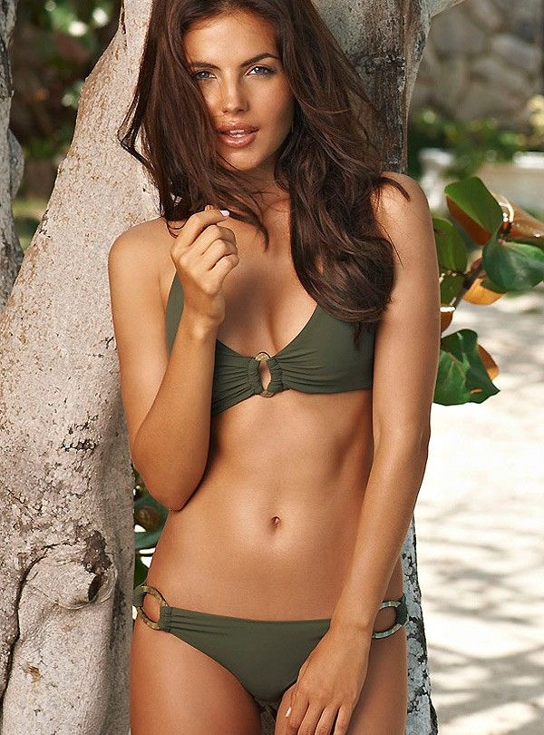 692984ea0b3b Barcelona Army Halter Two Piece Bathing Suit By PilyQ (SIZE: Top ...