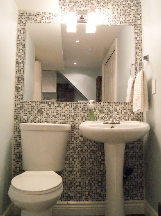 modern half bathroom ideas. bathroom design, mesmerizing modern half bath decor with white washing stand and toilet also black ideas d