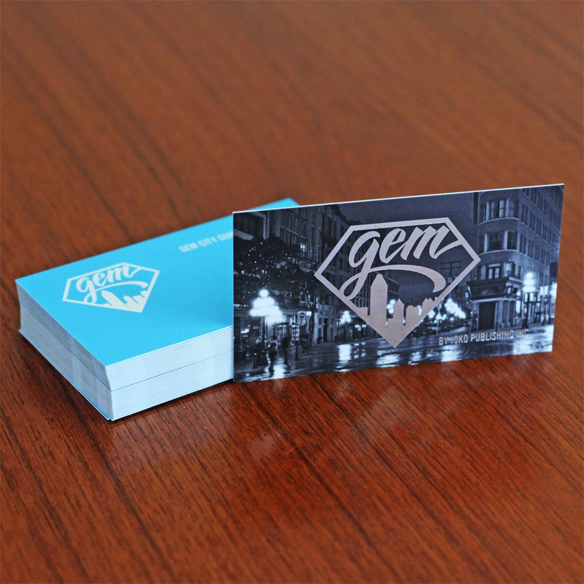 Logo And Business Card Design For Gem City Guide Vancouver