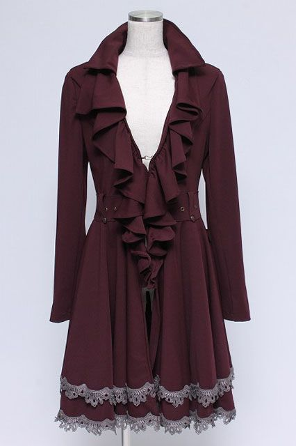 Nice Ozz Croce / Front Ruffle Embroidery Coat   Closet Child Online Shop