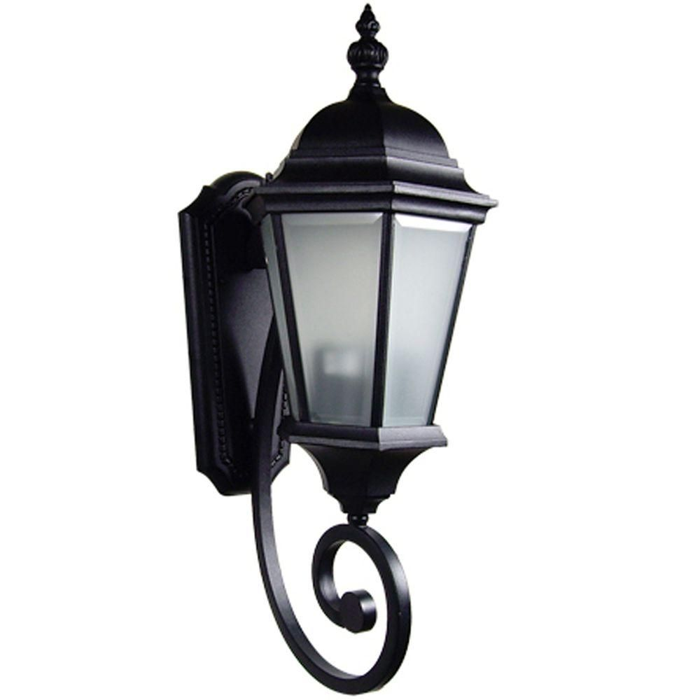 Brielle collection light black outdoor wallmount lamp wall