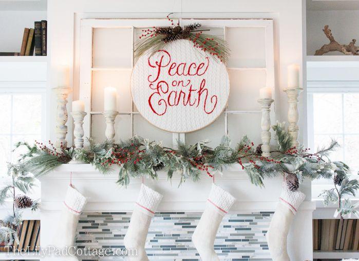 Christmas Mantel Decor   Christmas mantel decor, Mantels decor and ...