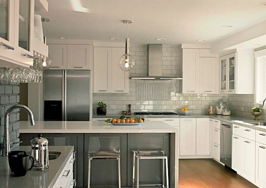 Kitchen Counter And Backsplash Ideas Minimalist Inspiration White Kitchen Cabinets With Grey Countertops Pictures Kitchen . Decorating Design