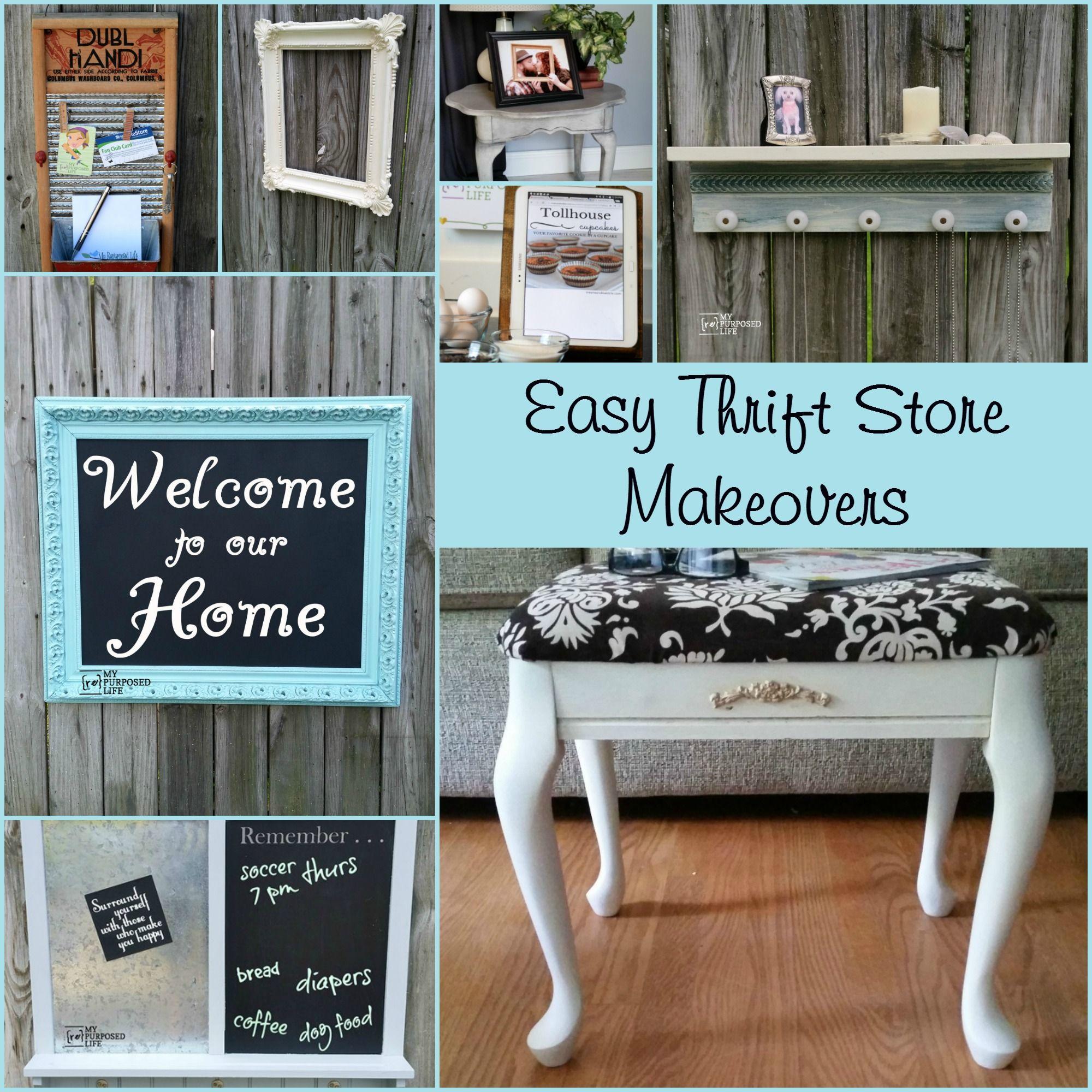 Repurpose Thrift Store Decor Project Ideas My