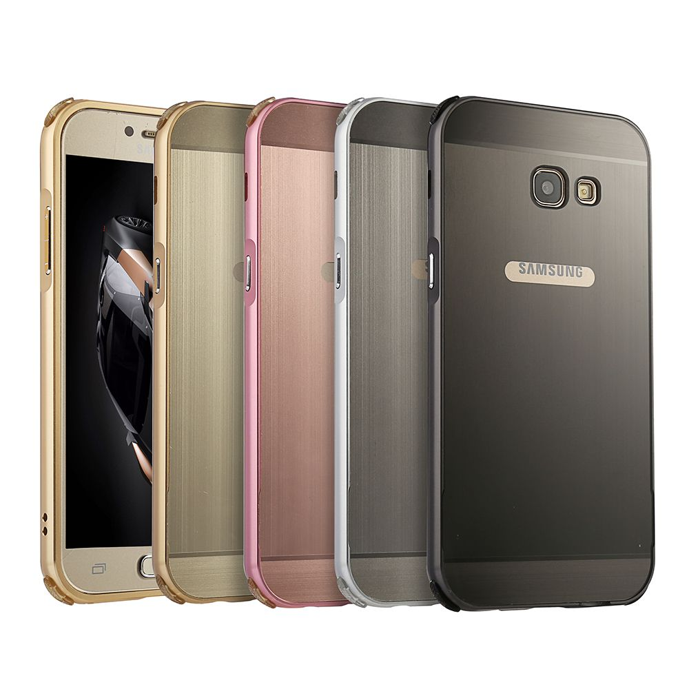 For galaxy a3 a5 a7 case metal frame protective cover for Housse samsung a5 2017