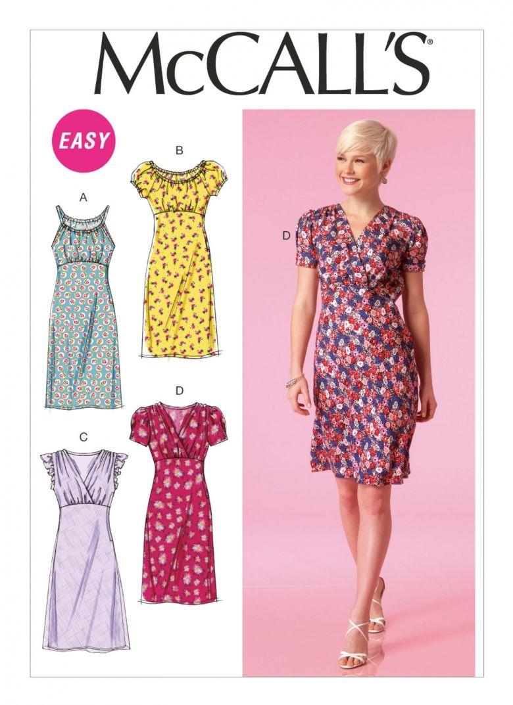 M7116 Misses Empire Waist Dresses Sewing Pattern Women Dress Dress Sewing Patterns Pattern Dress Women [ 1073 x 780 Pixel ]