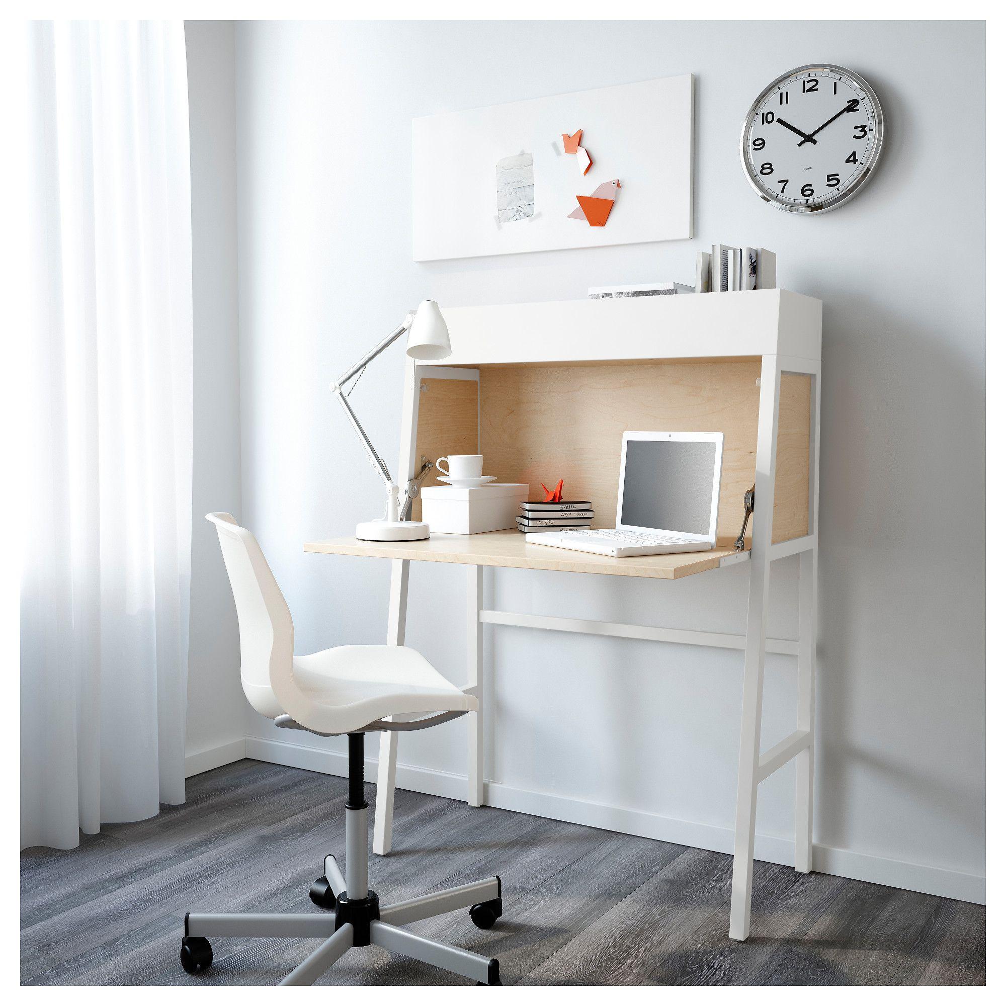 IKEA PS 2014 Bureau White/birch veneer IKEA Ikea small