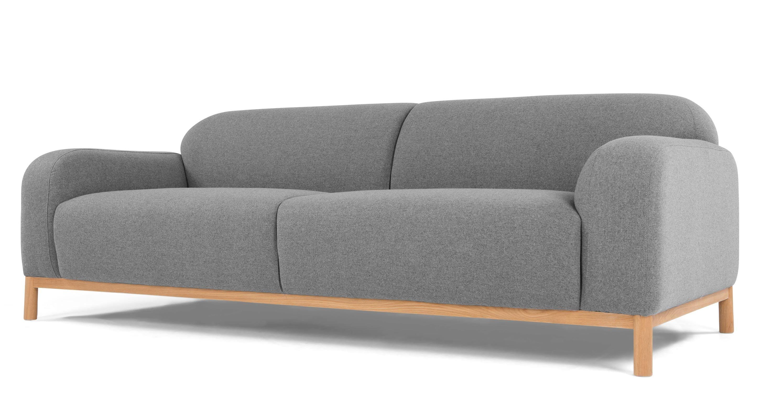 Brady 3 Sitzer Sofa in Signalgrau