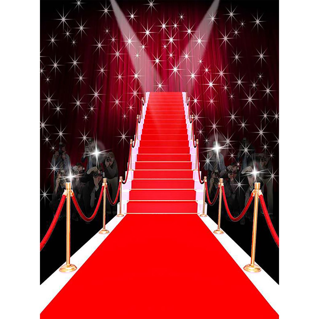 Allenjoy Photography Backdrop Tees Dazzling Red Carpet Fashion Fantasy Shiny Stars Background Props Photocal Red Carpet Backdrop Backdrops Photography Backdrop
