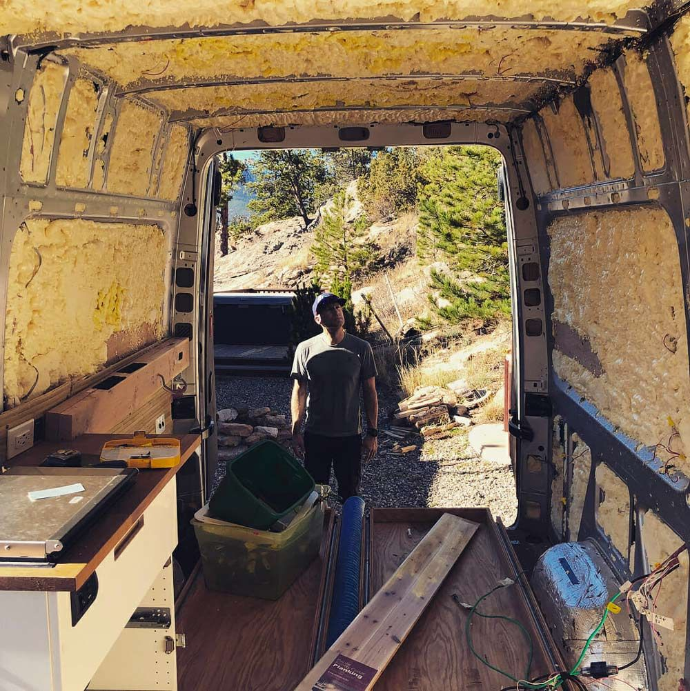 Installing DIY Van Insulation | Van Build Inspiration ...