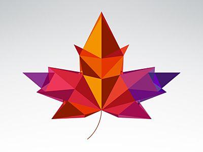 Geometric Autumn Leaf | Tattoo | Pinterest | Geometric art ...
