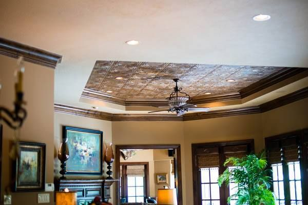 Foam Ceiling Tiles Painted To Look Like Antique And Vintage Faux Tin Copper