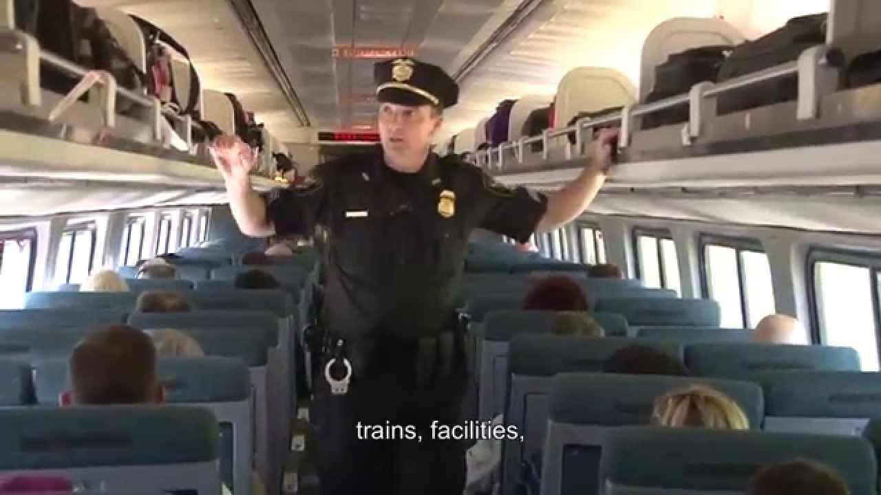 Amtrak police department recruitment video train video