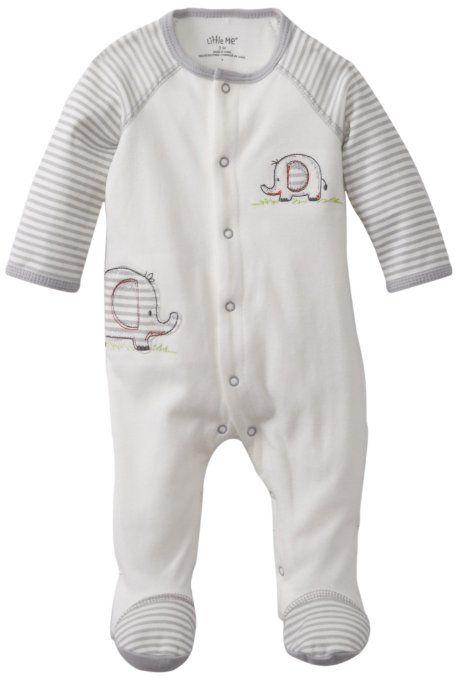 Amazon.com: Little Me Baby-Boys Newborn Elephant Footie ...
