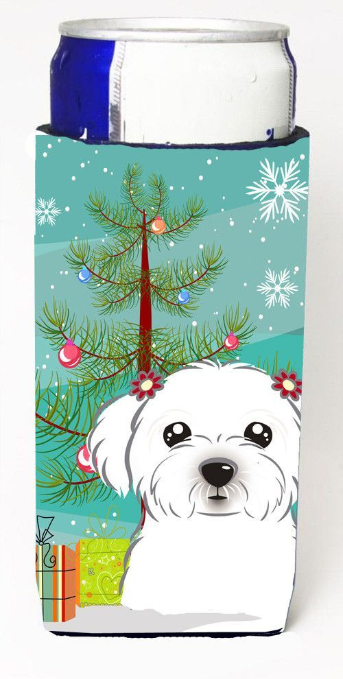 Christmas Tree and Maltese Ultra Beverage Insulators for slim cans BB1580MUK