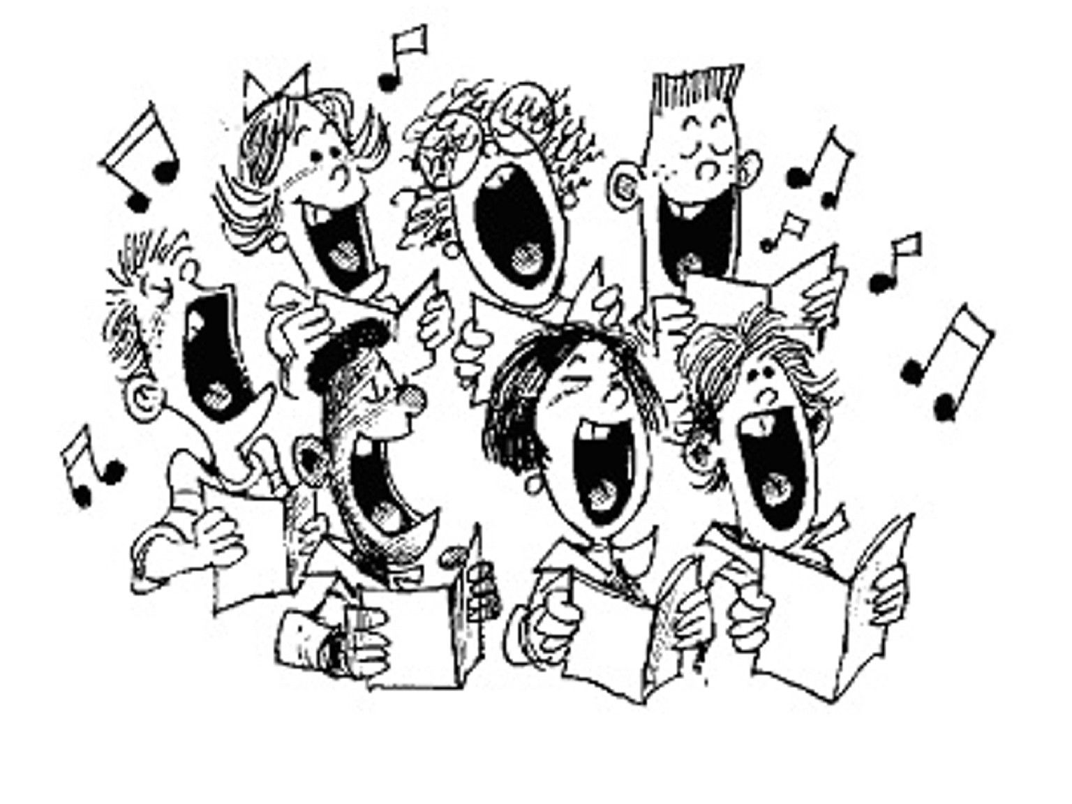 Church choir clipart church choir singing clip art - Chorale dessin ...