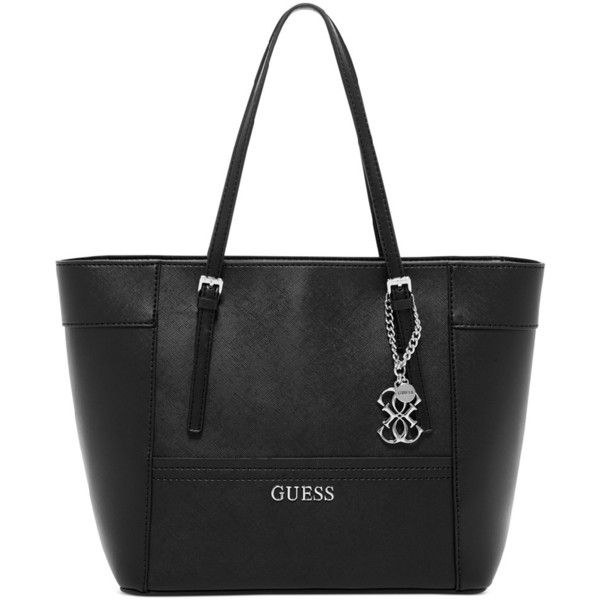 GUESS Delaney Small Classic Tote (€79) ❤ liked on Polyvore featuring bags, handbags, tote bags, guess tote, guess purses, guess tote bags, embellished handbags and guess handbags