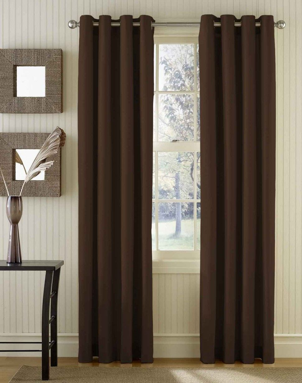 Home Interior Modern Curtain For Bedroom And Living Room Brown