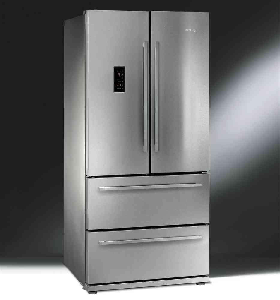 side by side smeg fq55fxe edelstahl haus tall cabinet storage refrigerator. Black Bedroom Furniture Sets. Home Design Ideas