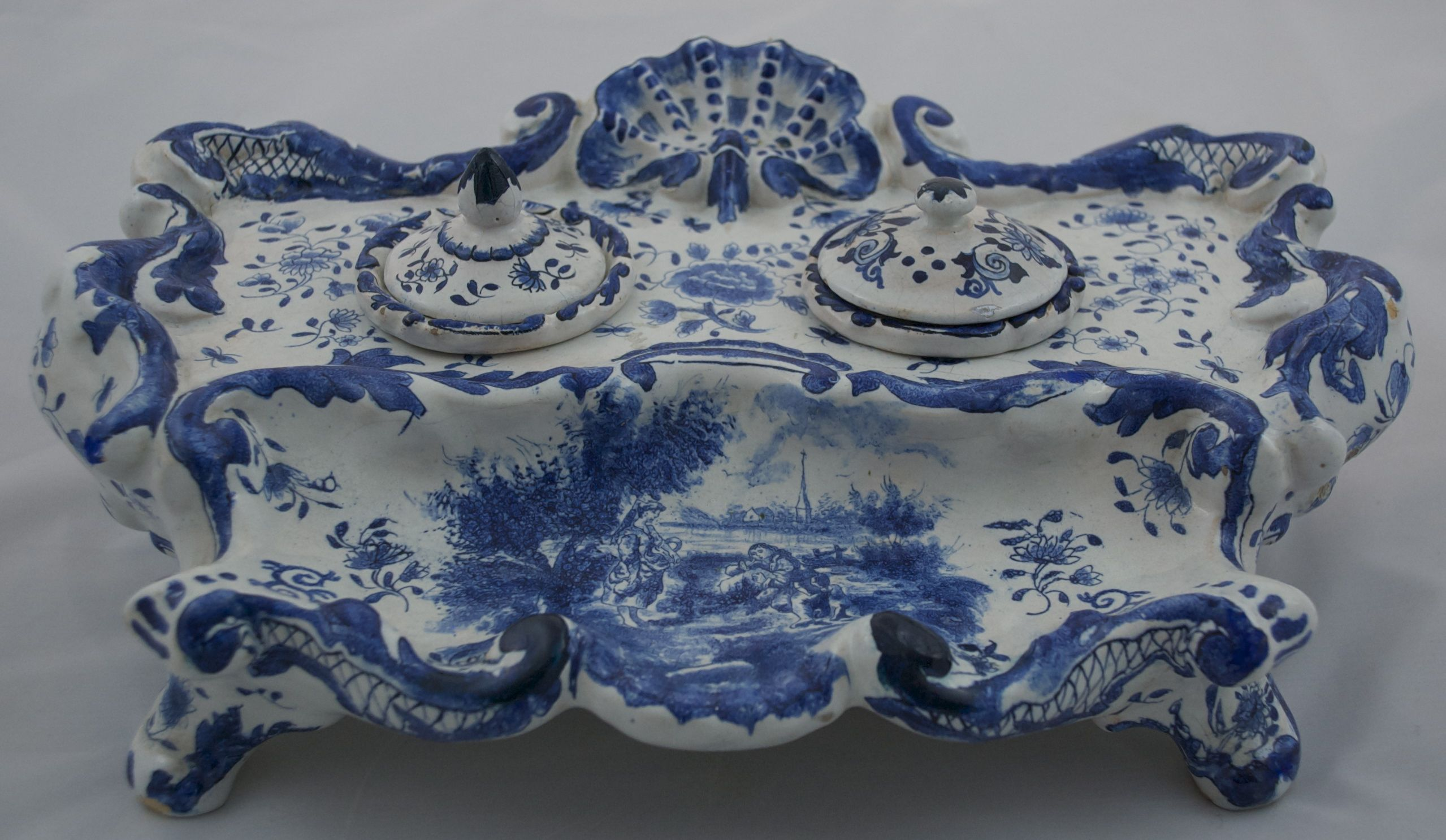 Blue delft inkwell stand delft pinterest - Oh cielos muebles ...