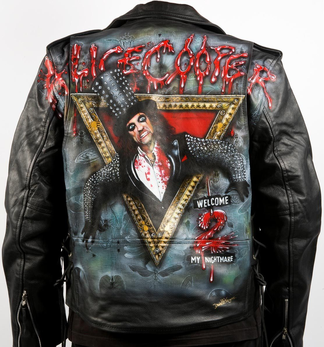 Alice Cooper Painted Leather Jacket Painted Leather