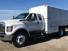 Ford F 750 Extended Cab Arbortech 14 Chipper Box Truck At Work Truck Direct Work Truck Ford Transit Trucks For Sale