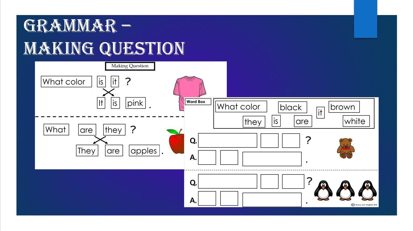Making Question Grammar Worksheet