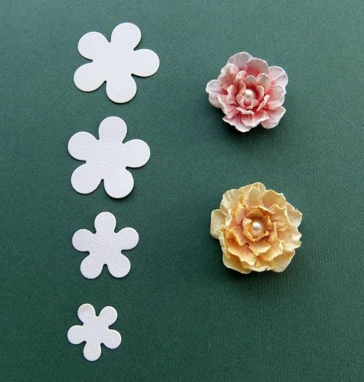 Бумажные цветы для открыток - Домашний hand-made