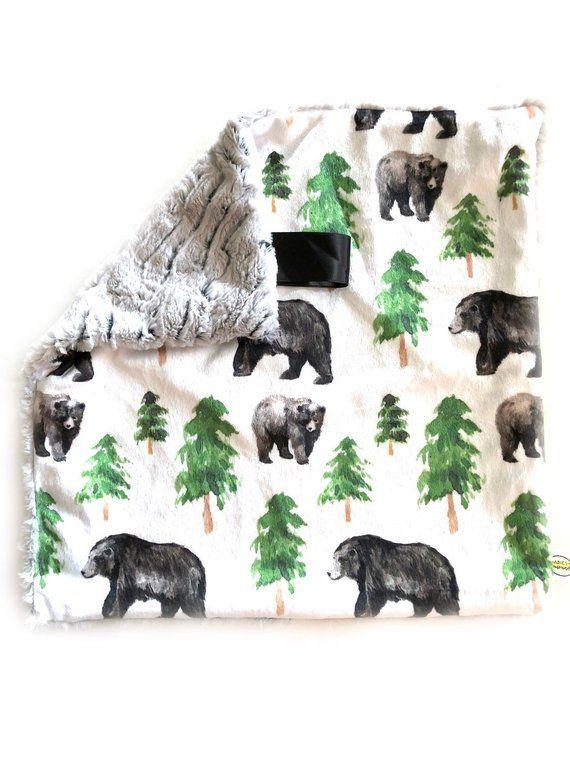 PRE-ORDER! Woodland Nursery, Animals Lovey Blanket, Animals nursery, Baby Blanket, baby lovey, baby boy, baby girl, Woodland Blanket, Unisex #babyboyblankets