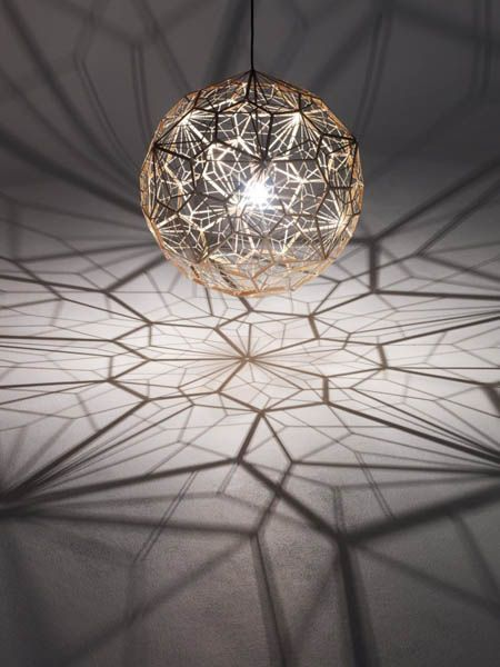 Pendant Light by Tom Dixon, Etch Web Lamp, Unique Lighting Design