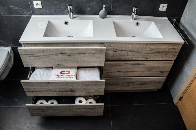 Saniclear ophelia dubbel badkamermeubel cm beton sk