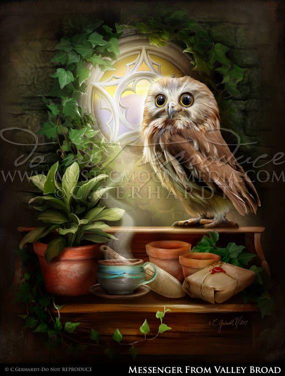 Owl Of Loyalty Potter Gift Art Badger Nerd Gifts Nerdy Etsy Kunst Poster Nerd Geschenke Kunstproduktion
