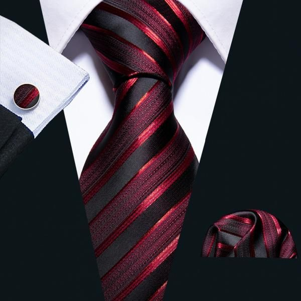 53c4879d8456 Bloody Stripes Tie, Pocket Square and Cufflinks | Beautiful ties at  unbelievable prices.