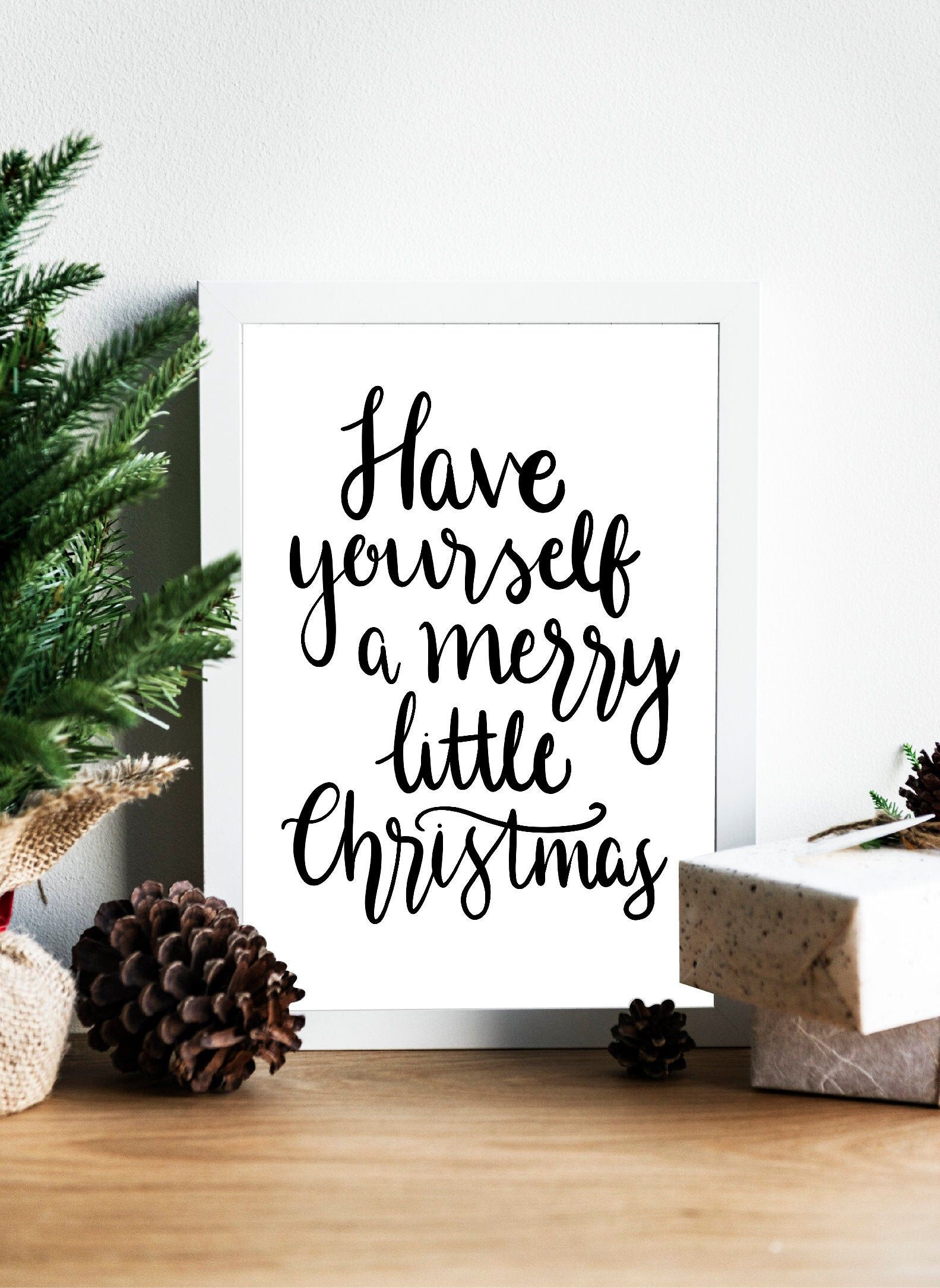 Have yourself a merry little christmas print - Christmas Print, Christmas Song Lyrics, Christmas ...