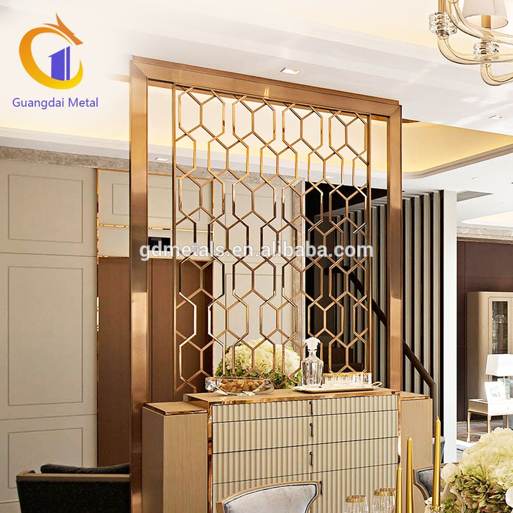 decorative screens for living rooms room interior design photo gallery india stainless steel screen furniture divider metal restaurant dining
