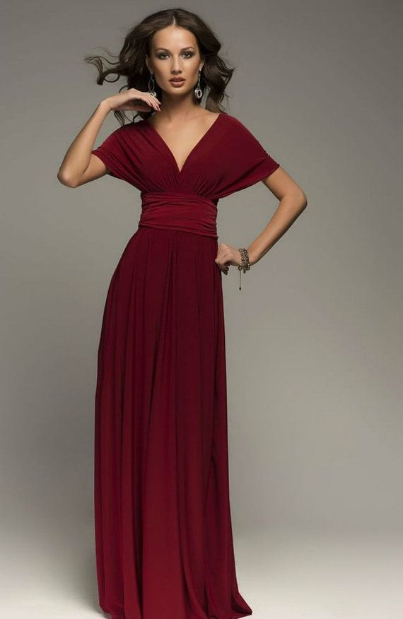 eabb6d94872 Burgundy Infinity Dress Bridesmaid Dress Wrap Convertible Dress Wedding