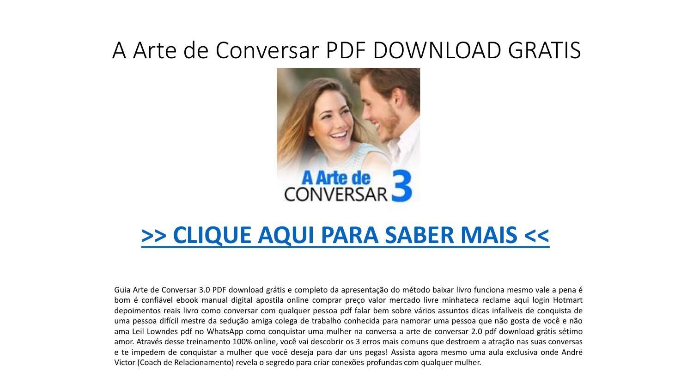 A Arte De Conversar Pdf Download Gratis Ebook Pptx Em 2020