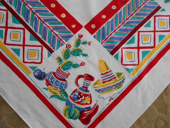 Simtex Tablecloth Southwest Design By Perfectmomentpillows On Etsy