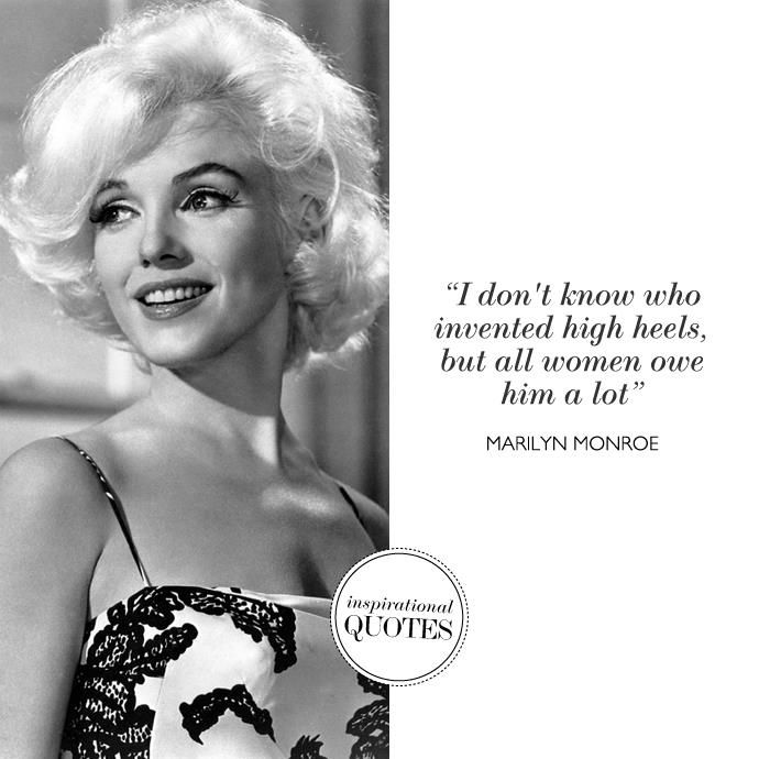 Marilynmonroe Heels Shoes Quotes Shoe Wisdom Heels Quotes