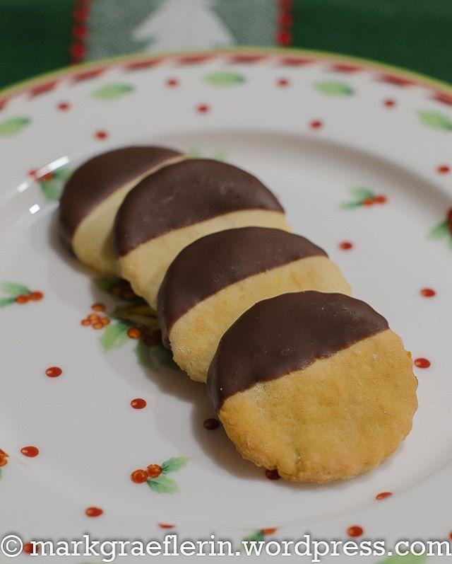 Feine Orangentaler mit Schokolade