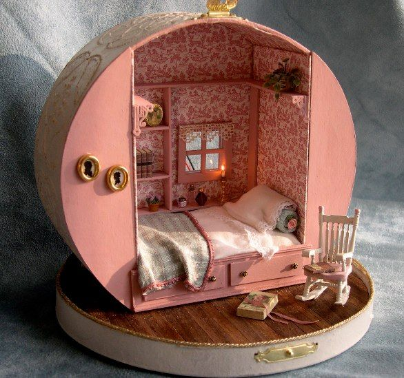 a Hat Box; a cute little bedroom | interiores | Pinterest ...