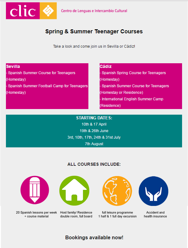 Spring Summer Courses For Teenagers Clic International House