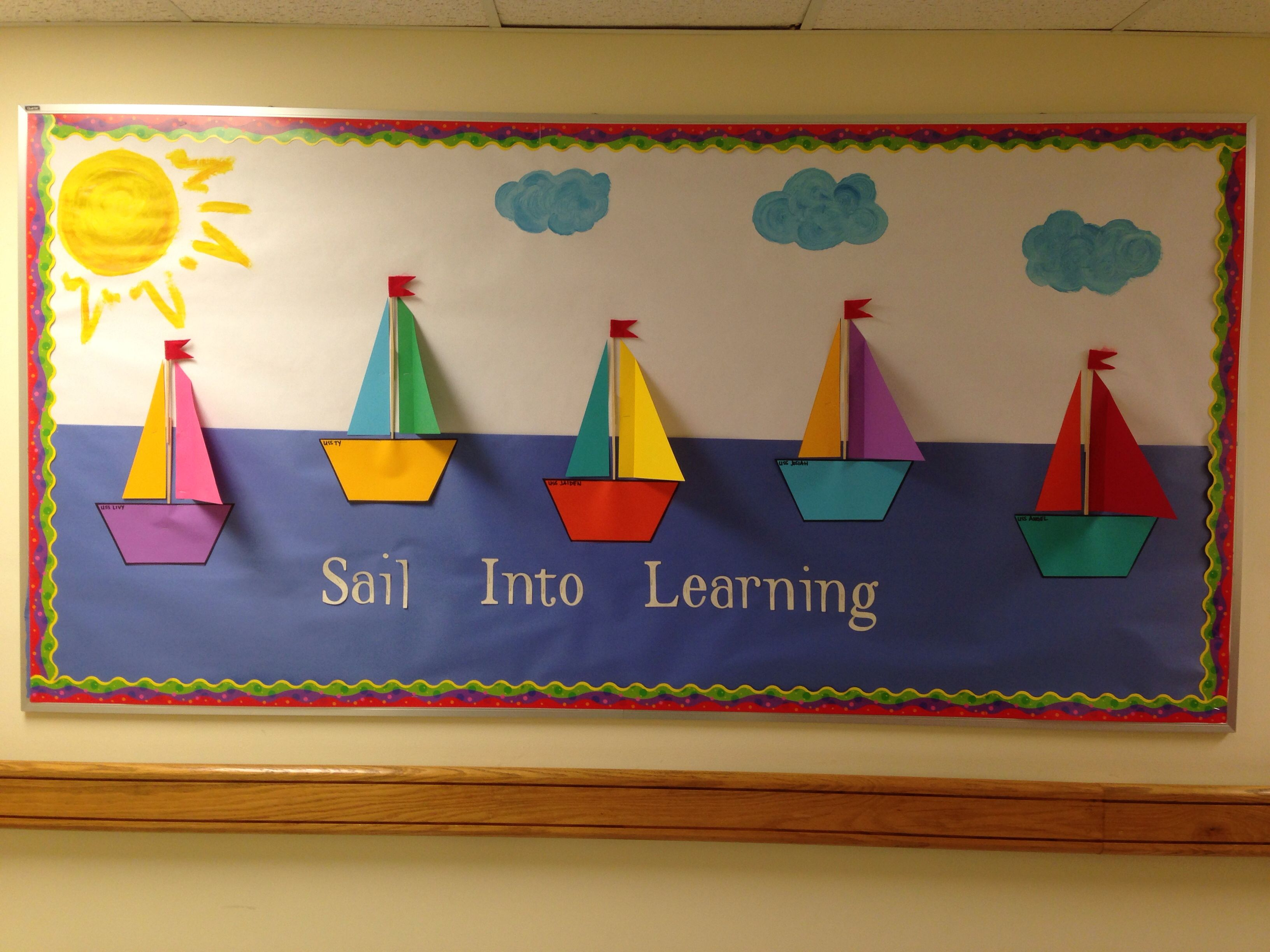Sailboat School Board Have Kids Decorate Their Own Ship