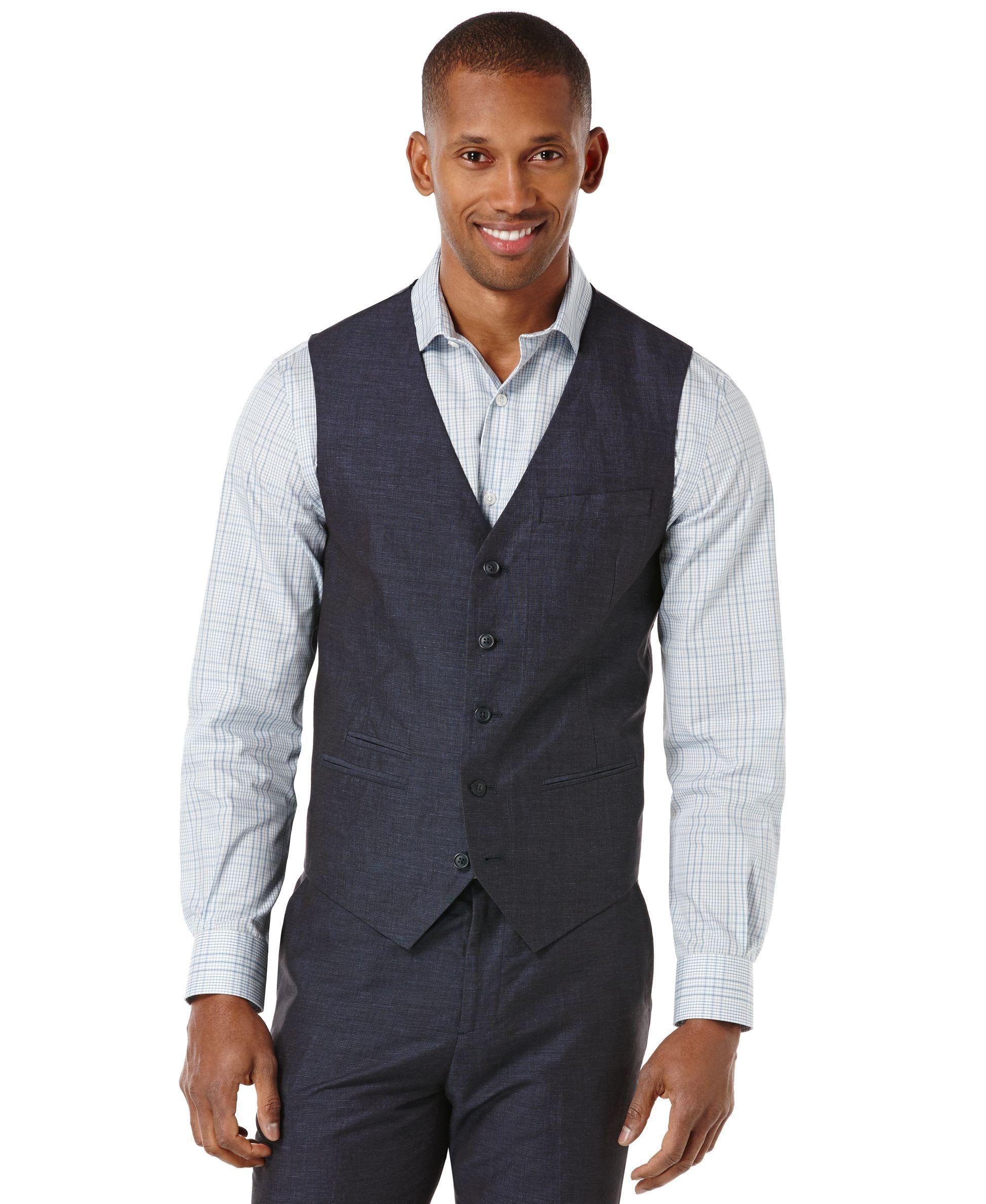 Perry Ellis Linen-Blend Slim-Fit Vest | Products | Pinterest ...