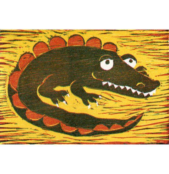 Gilbert The Croc Red Yellow